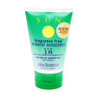 Mineral Sunscreen Fragrance Free SPF18 4 oz from ALBA BOTANICA