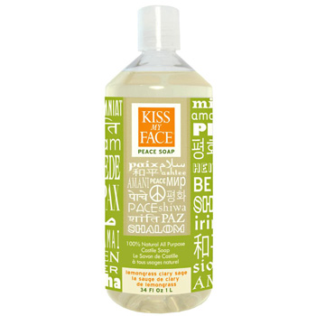 KISS MY FACE: Lemongrass Clary Sage Liquid Soap 34 oz