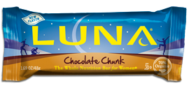 Clif bar inc: Luna bar chocolate chunk 15 BOX