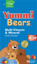 YUMMI BEARS (HERO NUTRITIONAL PRODUCTS): Yummi Bears Multi-Vitamin & Mineral 90 bears