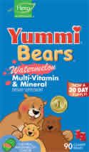YUMMI BEARS (HERO NUTRITIONAL PRODUCTS): Yummi Bears Multi-Vitamin & Mineral Watermelon 90 bears