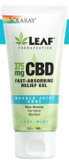 Solaray: Muscle Joint Cool CBD 375mg Gel 3.5oz / 100g