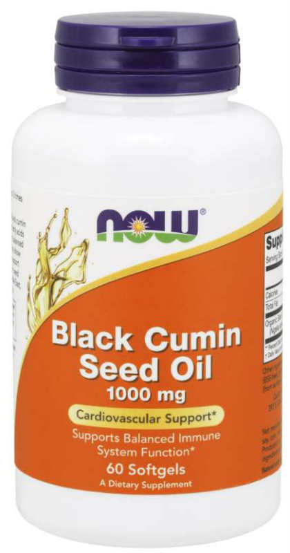 Black Cumin Seed Oil 1000mg 60 Softgels from NOW