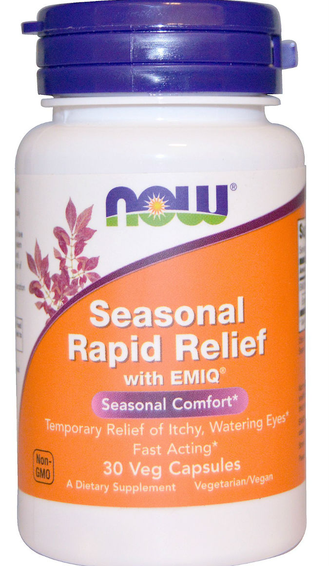 Now Foods Seasonal Rapid Relief With EMIQ 30 Veg Capsules