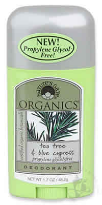 NATURE'S GATE: Deodorant Stick Propylene Glycol-Free Tea Tree Blue Cypress 1.7 oz