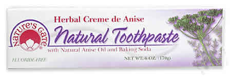 NATURE'S GATE: Toothpaste Creme de Anise 6 oz