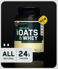 OPTIMUM NUTRITION: 100 Percent NATURAL WHEY And OATS CHOCOLATE 3 LB
