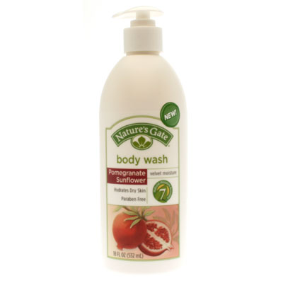 Nature's gate: Pomegranate sunflower velvet moisture body wash 18 oz