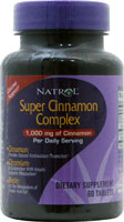 Super Cinnamon Complex 60 tabs from NATROL