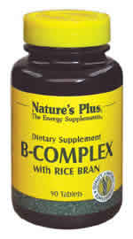Natures Plus: B-COMPLEX With RICE BRAN 180 180 ct