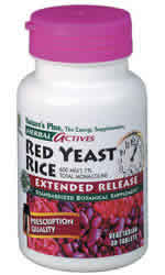 Natures plus: Red yeast rice 600mg extended release 60 Mini-Tabs