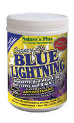 Natures Plus: Source of Life Blue Lightning Antioxidant Energy Drink 0.5 lb. (230g) Jars Powder