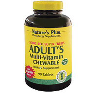 Natures Plus: ADULT'S RED FRUIT CHEWABLE 60 Chewables