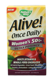 Alive Once Daily Women's 50 Plus Ultra, 60 tabs