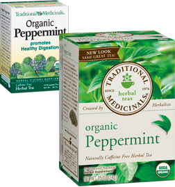 TRADITIONAL MEDICINALS TEAS: Organic Classic Peppermint Tea 16 bags