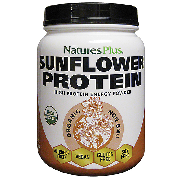 Natures Plus: Oragnic Sunflower Protein Powder 1.22 lb