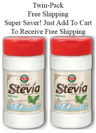 Sure Stevia Extract Powder (Free Shipping), Twinpack 3.5 + 3.5 oz