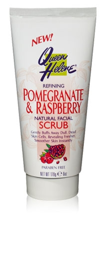 QUEEN HELENE: Pomegranate and Raspberry Facial Scrub 6 oz