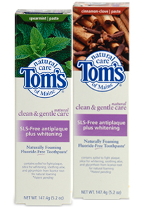 TOM'S OF MAINE: Toothpaste CleanandGentle Care SLS-free Antiplaque Whitening Cinnamon Clove 5.2 oz