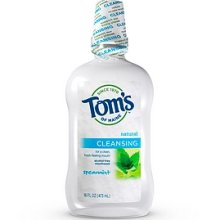 TOM'S OF MAINE: Cleansing Spearmint Mouthwash 16 oz