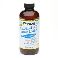 TWINLAB: Cod Liver Oil Emulsified Norwegian Lemon 12 fl oz