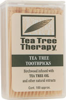 TEA TREE THERAPY INC: Tea Tree Therapy Toothpicks 100 ct