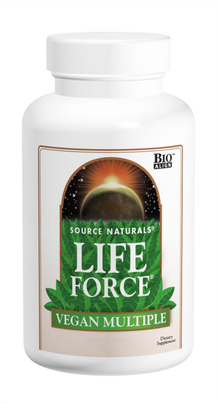 SOURCE NATURALS: Vegan Life Force Multiple 60 Tabs