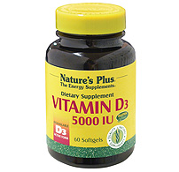 Natures Plus: Vitamin D3 5000IU 60 Softgels