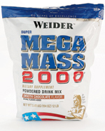 Weider health and fitness: Mega Mass 2000 Chocolate 12.1 lbs