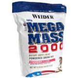 Weider health and fitness: Mega mass 2000 strawberry 12.1 lbs