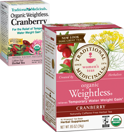 TRADITIONAL MEDICINALS TEAS: Weightless Tea Cranberry 16 bags