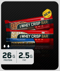 OPTIMUM NUTRITION: 100 Percent WHEY CRISP CHOC 12  BOX 1