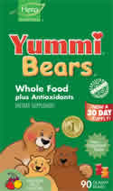 YUMMI BEARS (HERO NUTRITIONAL PRODUCTS): Yummi Bears Whole Food 90 gummy bears
