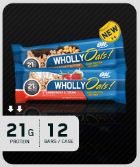 OPTIMUM NUTRITION: WHOLLY OATS BAR STRW And CRM 12 1