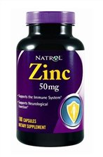 NATROL: ZINC 50MG 180CAPS